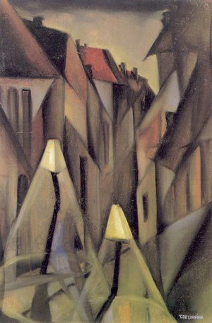 Tamara de Lempicka (inspired by) - A Street at Night, c.1923