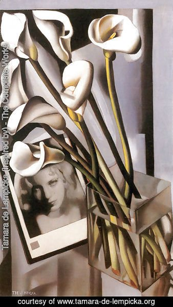 Arlette Boucard with Arums, 1931