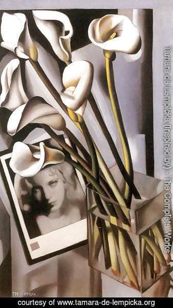 Tamara de Lempicka (inspired by) - Arlette Boucard with Arums, 1931