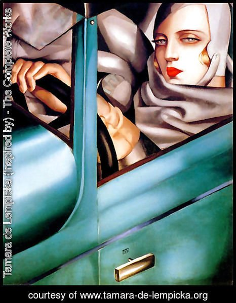 Tamara de Lempicka (inspired by) - Autoportrait (Tamara in the Green Bugatti) 1925