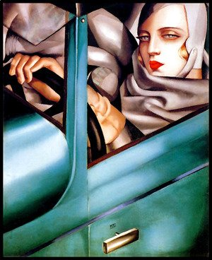 Autoportrait (Tamara in the Green Bugatti) 1925