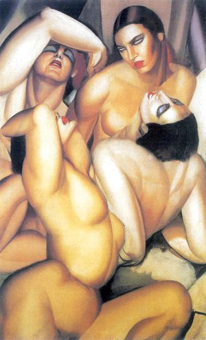 Tamara de Lempicka (inspired by) - Group of Four Nudes, c.1925