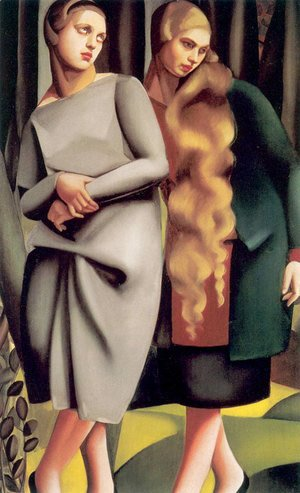Tamara de Lempicka (inspired by) - Irene and Her Sister, 1925