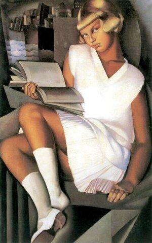 Tamara de Lempicka (inspired by) - Kizette in Pink, c.1926