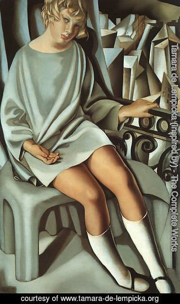 Tamara de Lempicka (inspired by) - Kizette on the Balcony, 1927