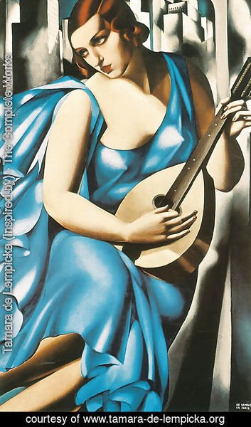 Lady in Blue with Guitar, 1929