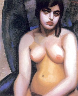 Tamara de Lempicka (inspired by) - Nude Blue Background, 1923