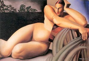 Tamara de Lempicka (inspired by) - Nude on a Terrace, 1925