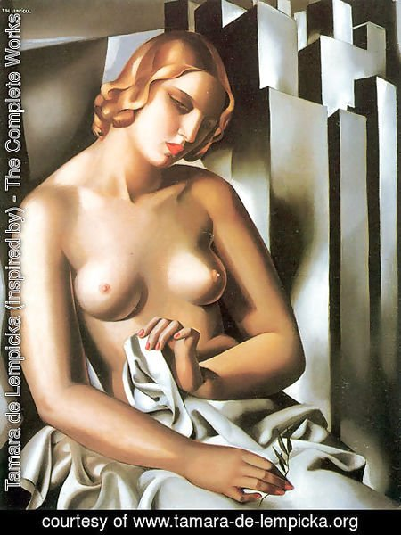 Tamara de Lempicka (inspired by) - Nude with Buildings, 1930