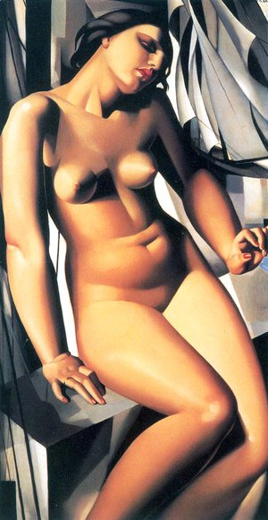 Tamara de Lempicka (inspired by) - Nude with Sailboats, 1931