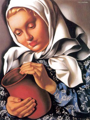 Tamara de Lempicka (inspired by) - Peasant Girl with Pitcher, c.1937