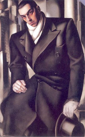 Tamara de Lempicka (inspired by) - Portrait of a Man or Mr Tadeusz de Lempicki, 1928