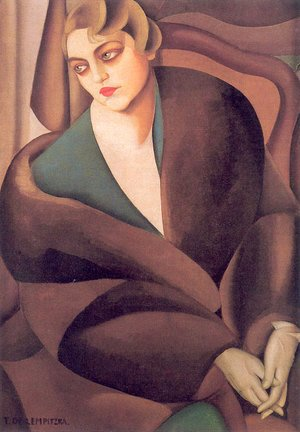 Tamara de Lempicka (inspired by) - Portrait of Baroness Renata Treves, 1925