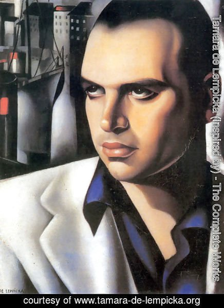 Tamara de Lempicka (inspired by) - Portrait of Count Vettor Marcello, c.1933