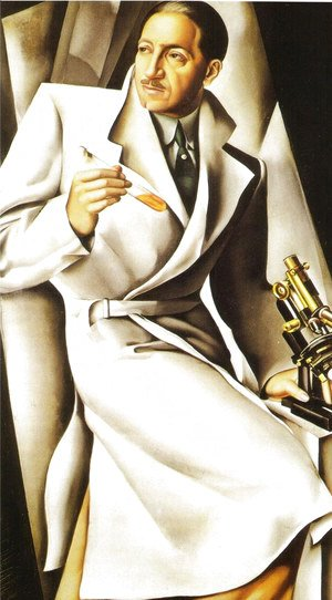 Tamara de Lempicka (inspired by) - Portrait of Doctor Boucard, 1928