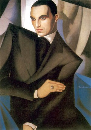 Tamara de Lempicka (inspired by) - Portrait of Marquis Sommi, 1925