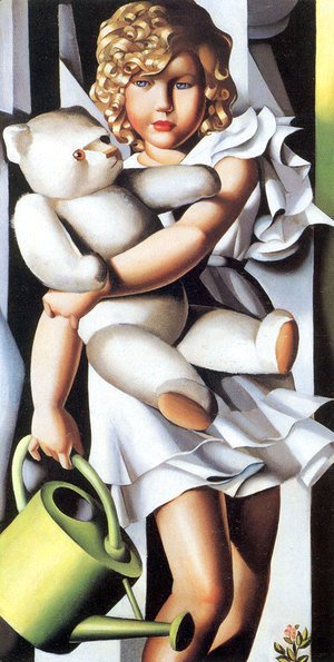Tamara de Lempicka (inspired by) - Portrait of Miss Poum Rachou, 1933