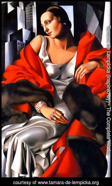 Tamara de Lempicka (inspired by) - Portrait of Mrs Boucard, 1931