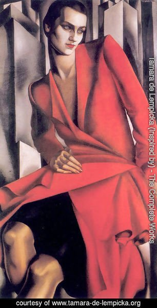 Tamara de Lempicka (inspired by) - Portrait of Mrs Bush, 1929