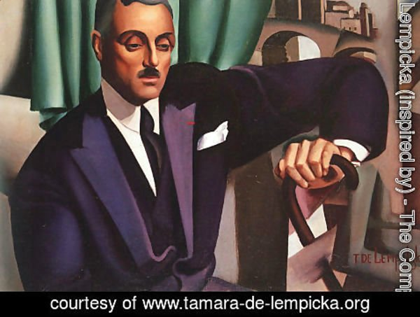 Tamara de Lempicka (inspired by) - Portrait of Prince Eristoff, 1925