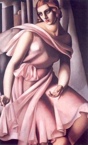 Tamara de Lempicka (inspired by) - Portrait of Romana de La Salle, 1928