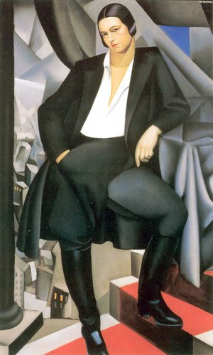 Tamara de Lempicka (inspired by) - Portrait of the Duchess of La Salle, 1925
