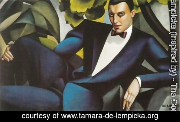 Tamara de Lempicka (inspired by) - Portrait of the Marquis d'Afflito, 1925