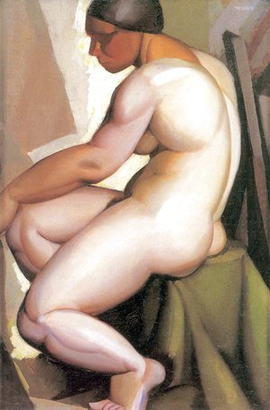 Tamara de Lempicka (inspired by) - Seated Nude in Profile, c.1923