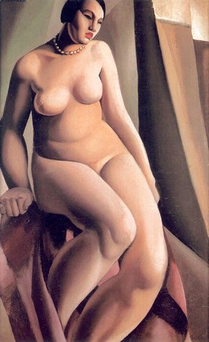 Tamara de Lempicka (inspired by) - Seated Nude (1), 1925