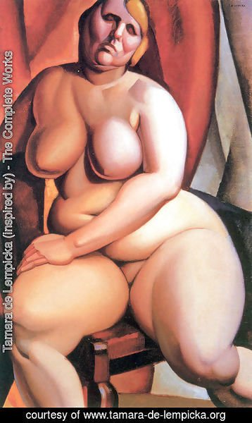 Tamara de Lempicka (inspired by) - Seated Nude, c.1923