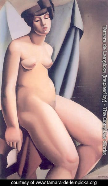 Tamara de Lempicka (inspired by) - Seated Nude (2) c.1925