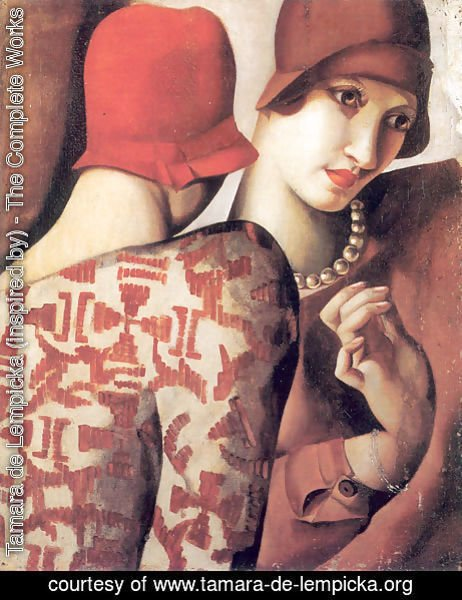 Tamara de Lempicka (inspired by) - Sharing Secrets, 1928