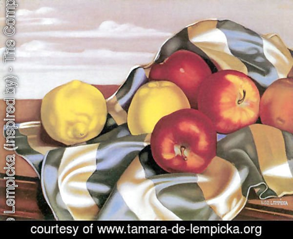 Tamara de Lempicka (inspired by) - Still Life with Apples and Lemons, c.1946
