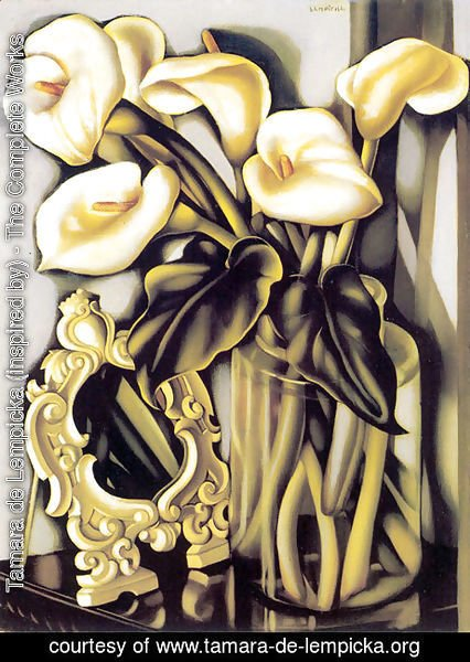 Tamara de Lempicka (inspired by) - Still Life with Arums and Mirror, c.1938