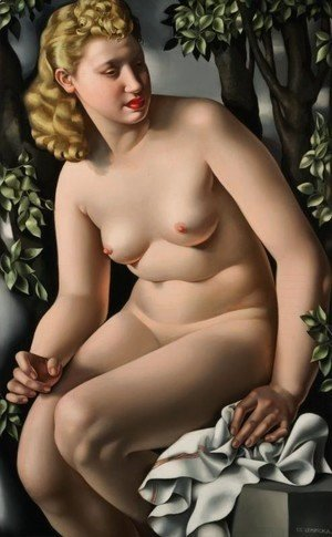 Tamara de Lempicka (inspired by) - Suzanne Bathing, c.1938