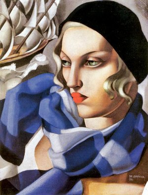 Tamara de Lempicka (inspired by) - The Blue Scarf, 1930