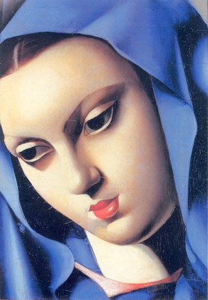 Tamara de Lempicka (inspired by) - The Blue Virgin, 1934