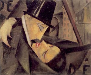 Tamara de Lempicka (inspired by) - The Kiss, c.1922