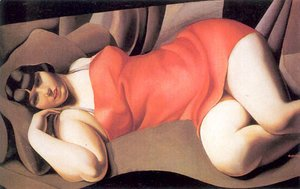 Tamara de Lempicka (inspired by) - The Pink Tunic, 1927