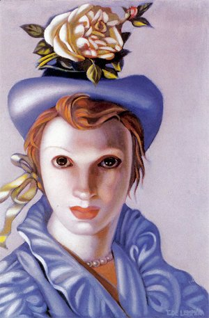 Tamara de Lempicka (inspired by) - The Rose Hat, c.1944