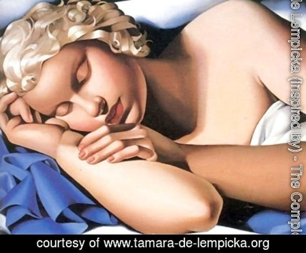 Tamara de Lempicka (inspired by) - The Sleeping Girl Kizette, c.1933