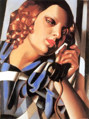 Tamara de Lempicka (inspired by) - The Telephone II, 1930