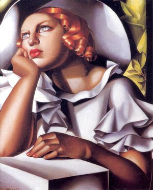 Tamara de Lempicka (inspired by) - Wide Brimmed Hat, 1933