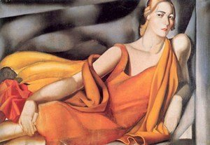 Tamara de Lempicka (inspired by) - Woman in a Yellow Dress, 1929