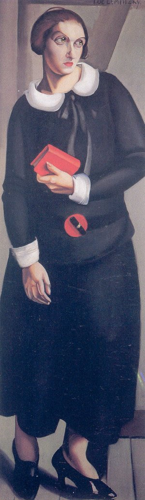Tamara de Lempicka (inspired by) - Woman in Black Dress, 1923