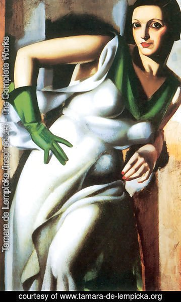 Tamara de Lempicka (inspired by) - Woman with a Green Glove, 1928