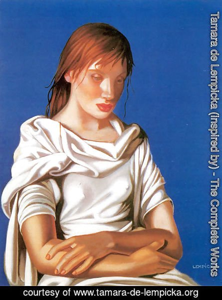 Tamara de Lempicka (inspired by) - Young Lady with Crossed Arms, 1939