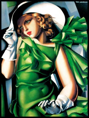 Tamara de Lempicka (inspired by) - Young Lady with Gloves, 1930