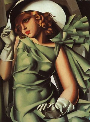 Tamara de Lempicka (inspired by) - Girl with Gloves