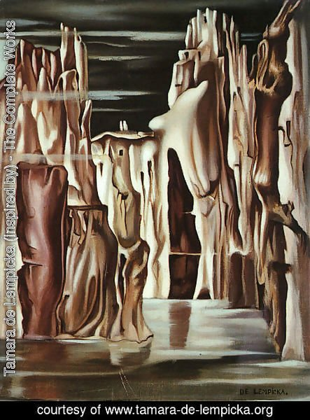 Tamara de Lempicka (inspired by) - Surrealist Landscape